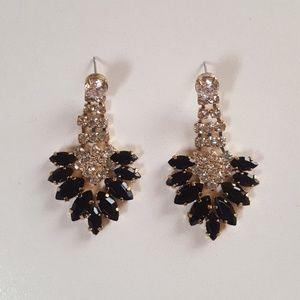 Jcrew Black Chandelier Earrings